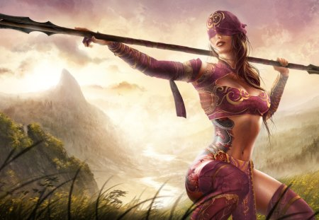 Warrior - women, weapon, girl, warrior