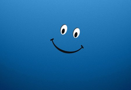 Just happy - happy, blue, smiley, eyes