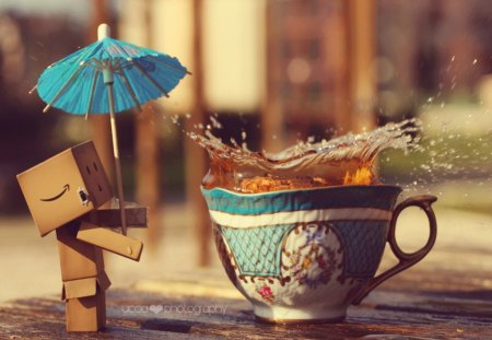 It's Time For Dambo To Drink Tea! - favourite, drink, relax, time, danbo, afternoon, tea, sweet