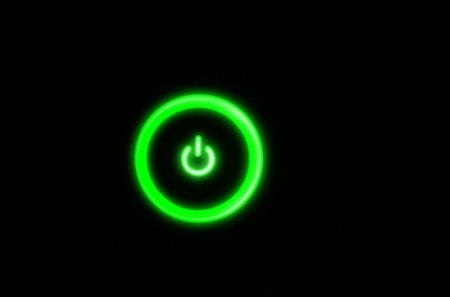 Power - cool, power, button, nice, dark, green, awesome, black