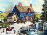 Americana Painting - Topiary Falls