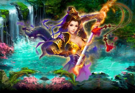 DYNASTY WARRIOR - beauty, art, warrior, girl, sword