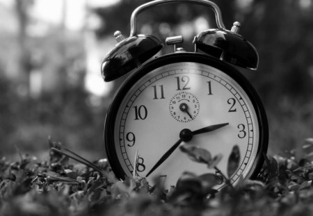 B/W Clock - black, photography, white, clock