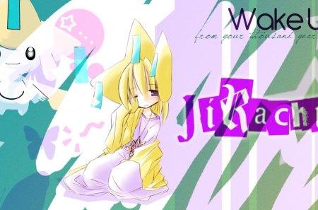 Wake Up Jirachi Pokemon Anime Background Wallpapers On Desktop