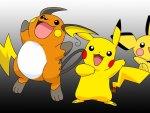 Pikachu,Pichu & Raichu