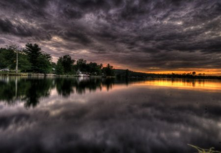 Stormy Sunset Sunsets Amp Nature Background Wallpapers On