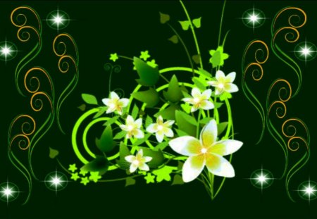 Green Dreams - summer delight, flowerscape, summertime flowers, flowers for you