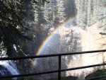 Waterfalls with the rainbow