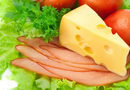Healthy Food - cheese, food, lettuce, healthy