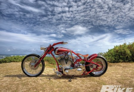 The Ratt Trap - bike, red, chrome, custom