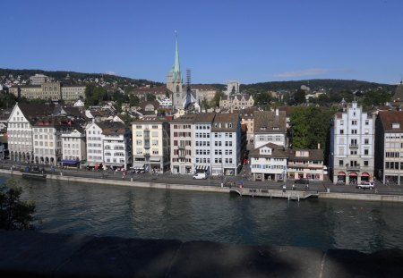 Z�rich Panoramme - building, architecture, house, city, zurich, panorama