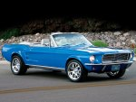 Blue Ford Mustang Cabrio