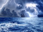 exciting storm at sea