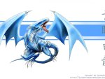blue eyes wiht dragon