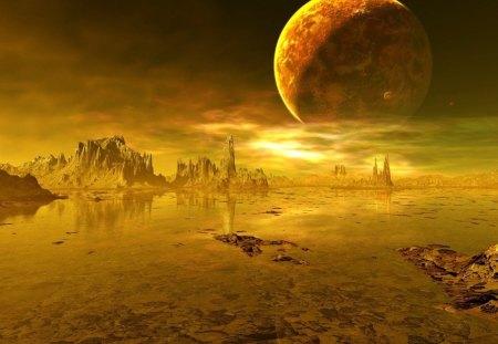 Barren Planet Other Space Background Wallpapers On Desktop Nexus