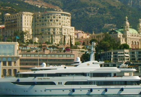 Yacht in Monte Carlo Harbor - lifestyle, boat, yacht, monte carlo