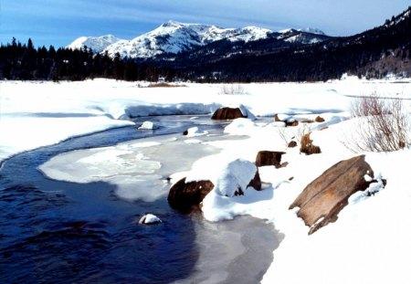 California - snow, winter, california, mountains, nature, photo