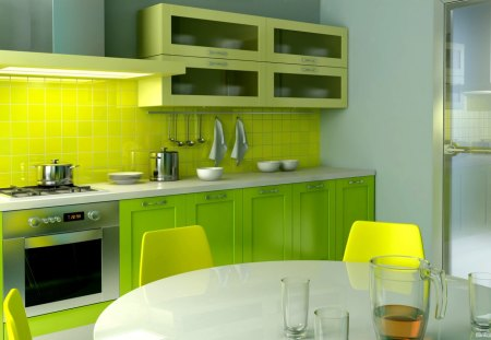 Interior - cg, kitchen, dining, interior