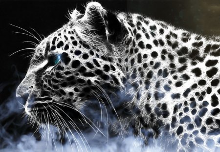 abstract leopard - abstract, beauty, leopard, eyes