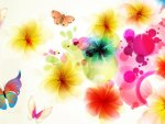 Exotic Floral Abstract