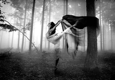 Magic Dance - forest, magic, woman, dance