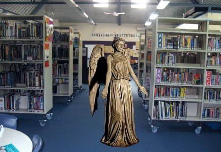 The libary - doctor who, scifi, time travel, angel