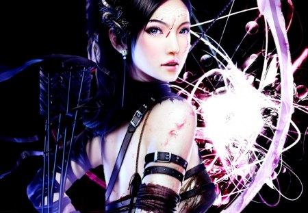 GORGEOUS WARRIOR GIRL - fantasy, girl, gorgeous, anime, warrior