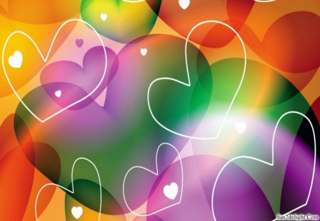 MANY HEARTS - hearts, fantasy cg, colours, wallpaper design, abstract