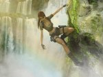 LARA AND THE WATERFALL