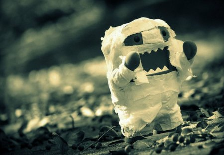 Domo ( Mummy ) - mummy, holloween, domo, cartoon, cute