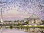 Obelisk and T. Jefferson Memorial   Washington DC
