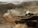 israeli merkava battle tanks on the move
