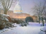 Capitolio in winter  Washington DC   US