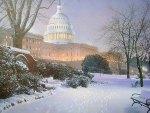 Capitolio in winter  Washington DC   US