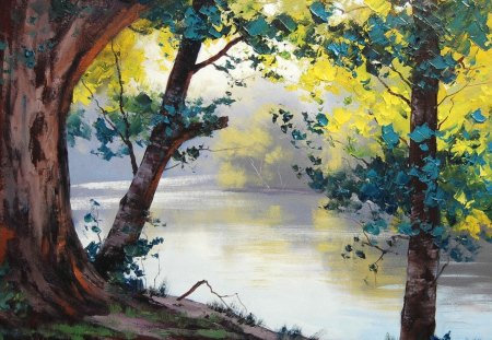 Forest Painting - painting, forest, jungle, nature