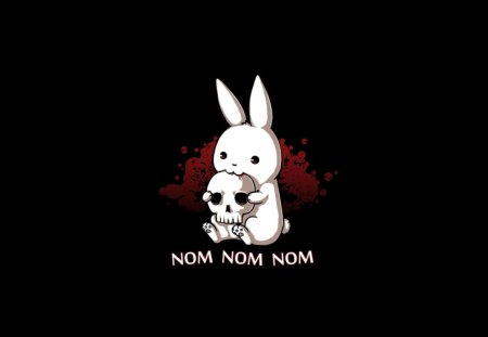 NomNom Rabbit - animal, nom, music, funny, rabbit
