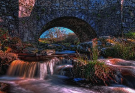 Kilbride Bridge - Fall, rocks, ireland, kilbride bridge, wicklow, photography, bridge, waterfall, river, kilbride, wicklow ireland, trees, waterfalls, water, plants, nature, Autumn