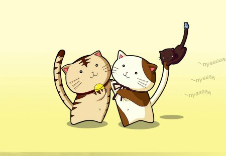Nyan Kats - kittens, adorable, cat, cats, cartoon, kats, anime, sweet, cute, kitten, nyan