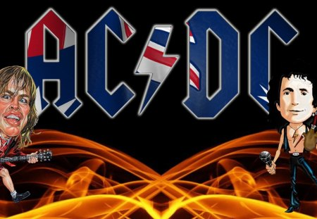 AC/DC Wallpaper - angus young, rock music, acdc, bon scott