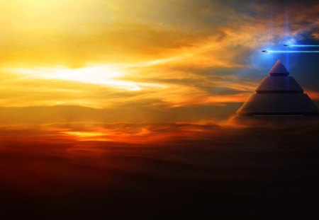 Space Pyramid - pretty, wonderful, stunning, space pyramid, marvellous, space, beautiful, adorable, spaceships, picture, space shuttle, star gate, nice, sand, moon, outstanding, wallpaper, pyramid, super, amazing, desert, fantastic, wind, abstract, galaxy, planet, skyphoenixx1, awesome, great, dust