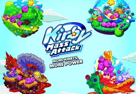 Kirby Mass Attack Wallpaper 2 Read Desc