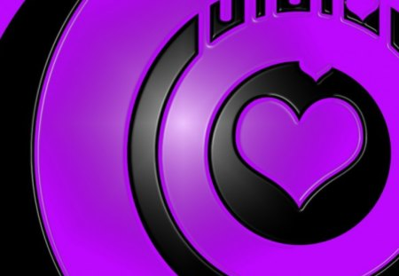 purple heart - hearts, purple, black, heart