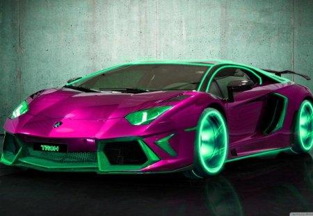 pink lambo - pink, car, race cars, lamborghinis