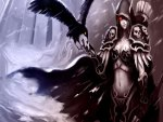 Dark Elf And Crow