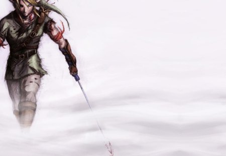 Link - games, link, video games, white background, the legend of zelda, anime, zelda, weapon, sword
