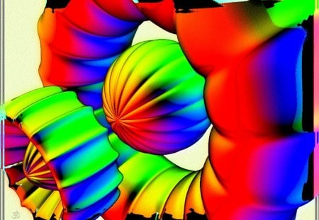 Pods - color, fractals, abstract, fractal, fantasy, abstraction