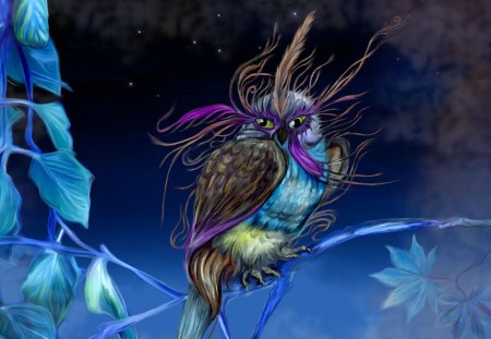 FANTASY BIRD - colorful, fantasy, bird, wallpaper