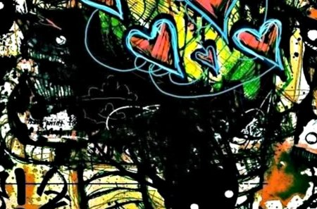 graffiti art - art, monster, love, scene, emo, new