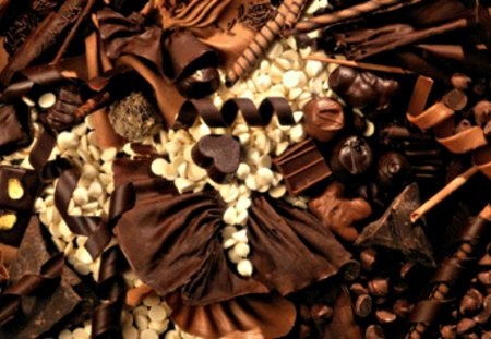 Chocolate Fantasy - chocolate, chocolate heart, white chocolate, yummy, new, love, dark chocolate