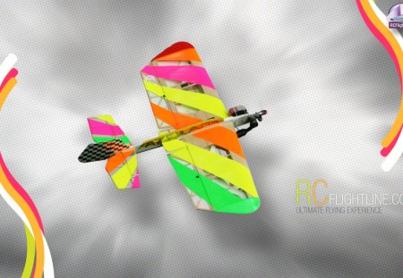 Flying the Rainbow - aircraft, plane, 3d, radio controlled, rcflightline, rc, remote control, rainbow
